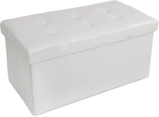 Ikea Eckschrank Schreibtisch ~  com  Zitbank zitkist met opbergruimte hocker bank wit 400868  Tuin