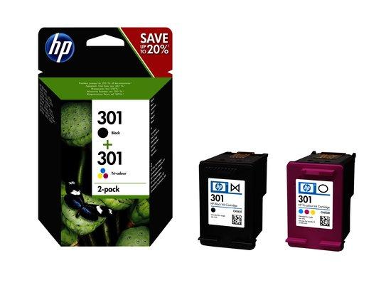 HP 301 - Inktcartridge / Zwart / Kleur / 2-Pack