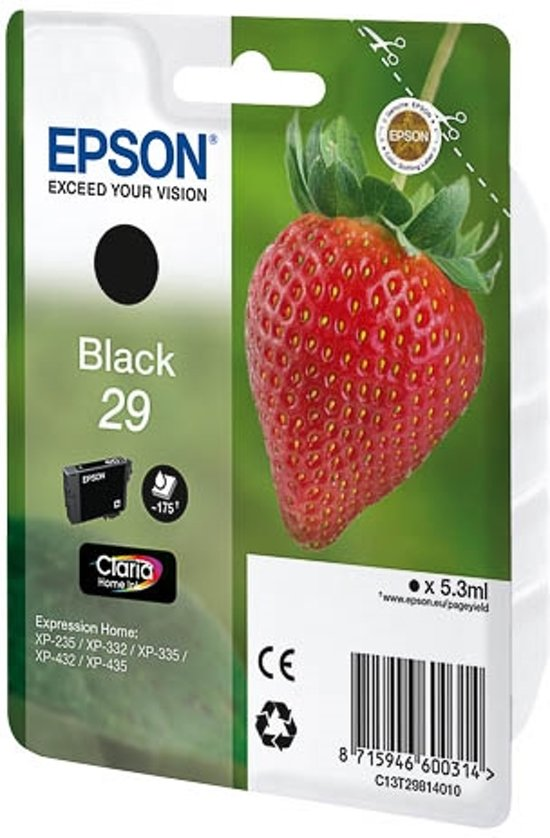 Epson 29 - Inktcartridge / Zwart