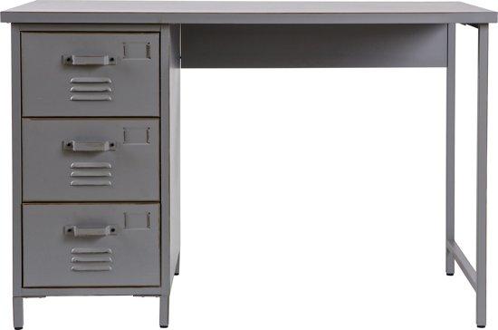 Woood max bureau 100 cm vintage grijs for Bureau 100 cm