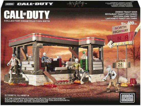Mega Bloks - Call Of Duty Zombies Tranzit Diner - Constructiespeelgoed in Terkaple