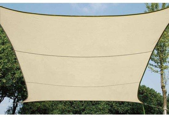 Schaduwdoek waterdoorlatend zonnezeil vierkant 5 x 5m kleur beige - Zonnezeil goedkope ...