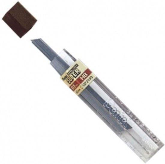 Pentel Vulpotlood Vulling | Potloodstift 0.3 mm bruin Buisje à 12 stiften in Nagele