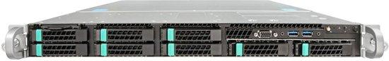 Intel R1208WTTGSR Intel C612 LGA 2011-v3 1U Zwart server barebone