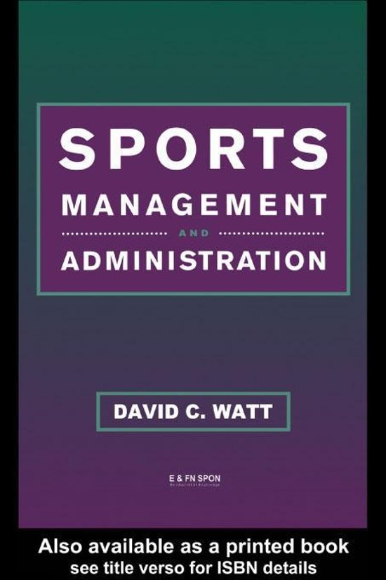 Sports Management and Administration