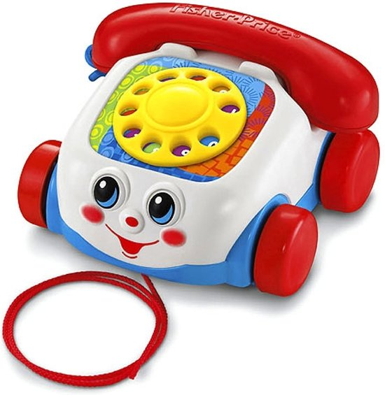 Bol Com Fisher Price Trekfiguur Telefoon Rood Mattel