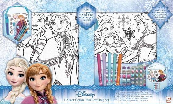 Disney Frozen 2 delige kleur je eigen tas set in Munnekezijl / Muntsjesyl