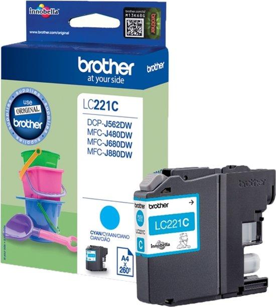 Brother LC221C - Inktcartridge / Cyaan