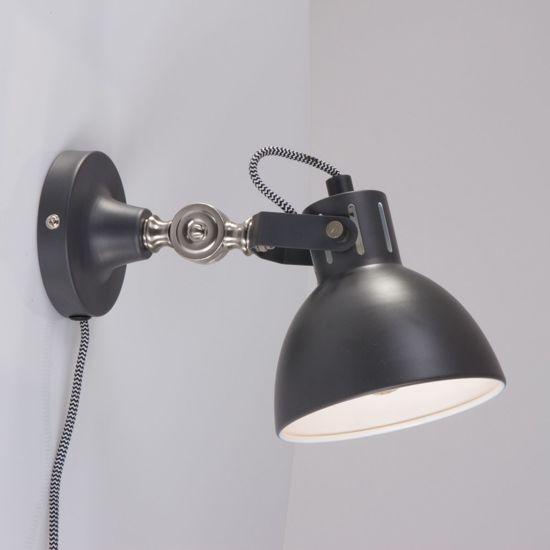 Stoere wandlamp lumidem cera grijs for Stoere industriele wandlampen