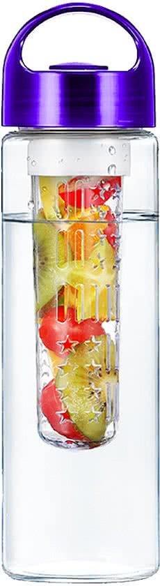 Waterfles met fruit filter - Paars in Ulfterhoek
