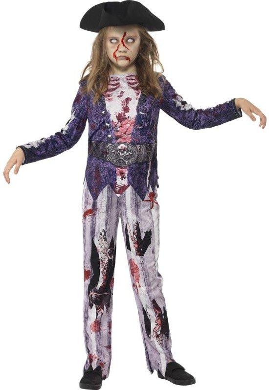 Zombie piraat kostuum voor meisjes - Verkleedkleding - Maat 104/116 in Boekhoute