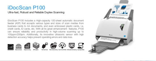 iDocScan P100 High Speed Document Scanner
