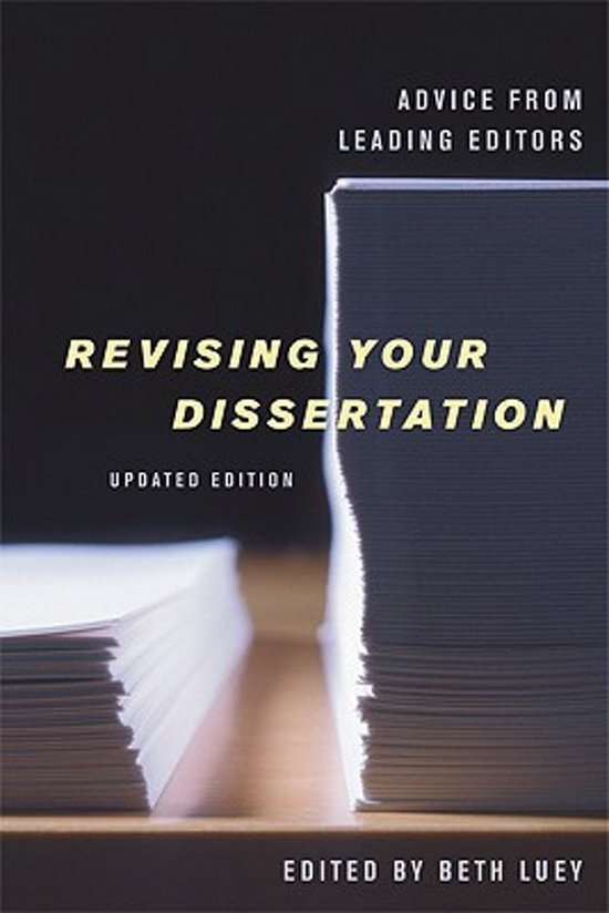 Beth luey revising your dissertation