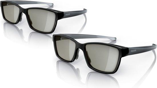 Philips PTA436 - 3D-bril passief - 2 stuks - Zwart