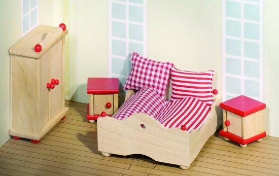 Houten Slaapkamer Meubels : bol.com Goki Houten poppenhuis slaapkamer ...