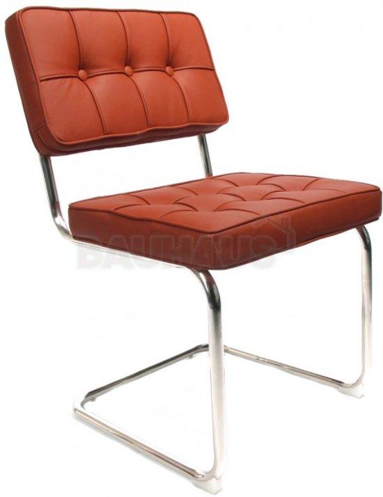 Bauhaus stoel cognac for Bauhaus stoel leer