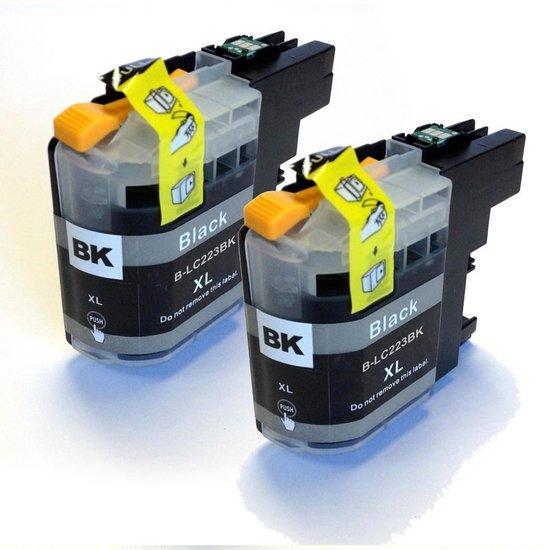 Brother LC-223BK compatible Printvoordeelshop inktcartridges zwart 2 pack