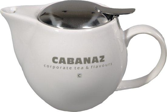 Cabanaz Theepot - 0.5 l - Wit