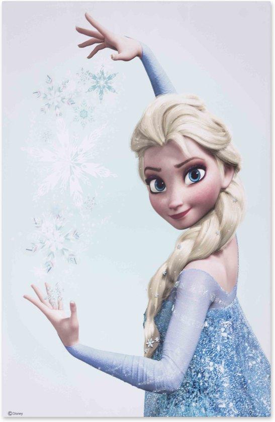 bolcom disney frozen elsa canvas blauw 50x70 cm