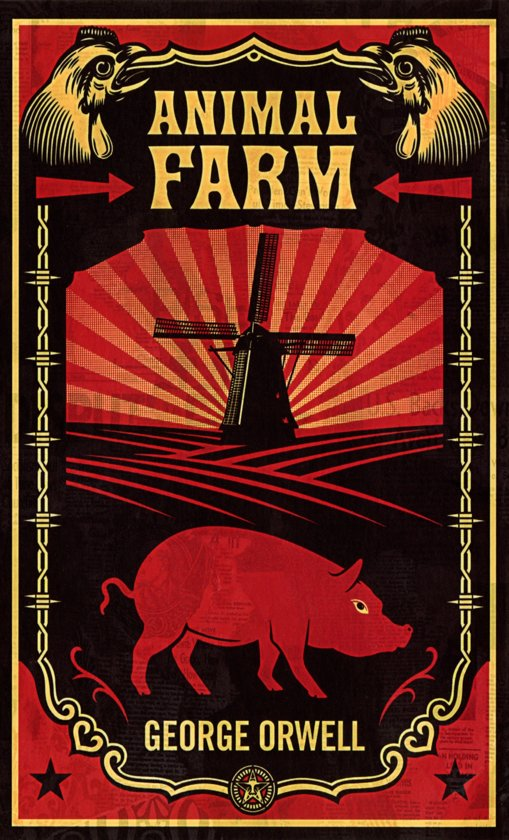 Raamdecoratie Keuken Vet : George Orwell Animal Farm Book Cover