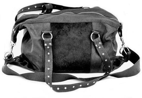 Zwarte Leren Schoudertassen : Bol zwarte leren handtas schoudertas met