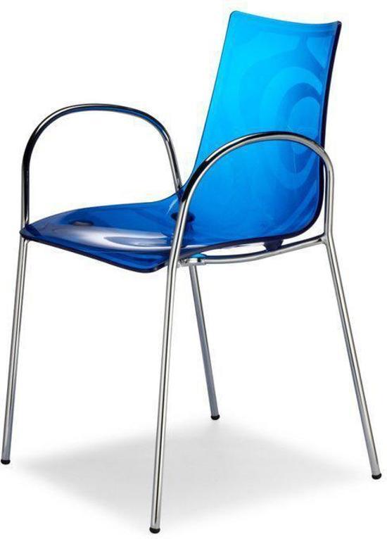 Scab zebra braccio stoel blauw met arm - Stoel zebra ...