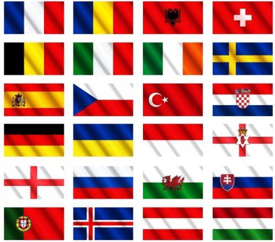Ek 2016 landen vlaggen pakket - De thuisbasis van de wereld chesterfield ...