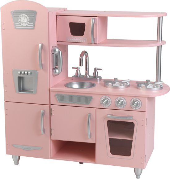 kidkraft vintage houten keukentje roze kidkraft. Black Bedroom Furniture Sets. Home Design Ideas