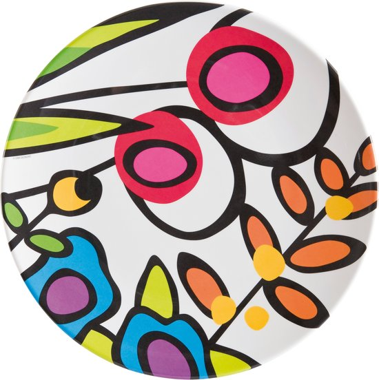 Zak! Designs Wild Flora Dinerbord - Ø 28 cm - Wit