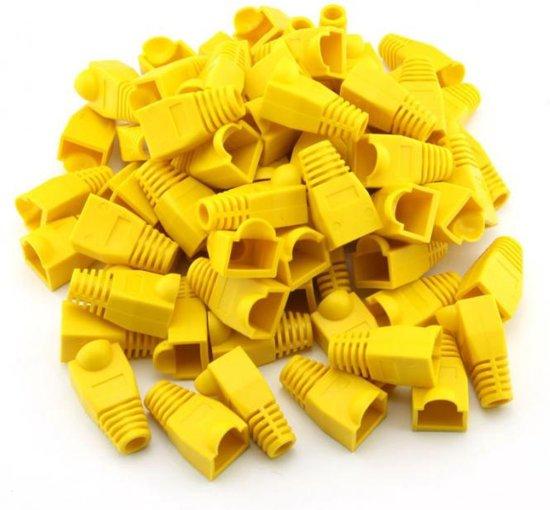 10 Gele netwerk schoentjes voor RJ45 connectoren - NBH®