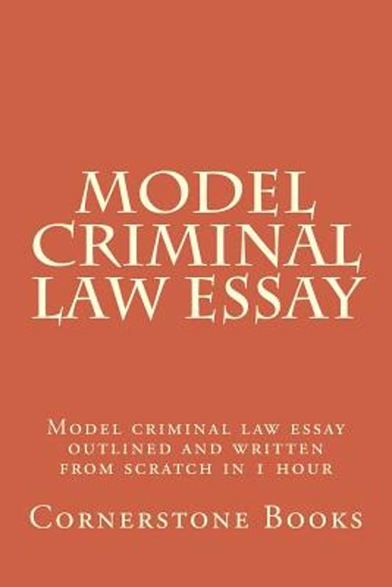 Criminal law essays