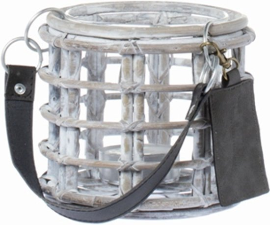 Riverdale Windlicht Vintage Wit Wash 14 Cm