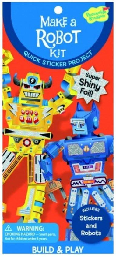 Peaceable kingdom Sticker kit robot in Haerst