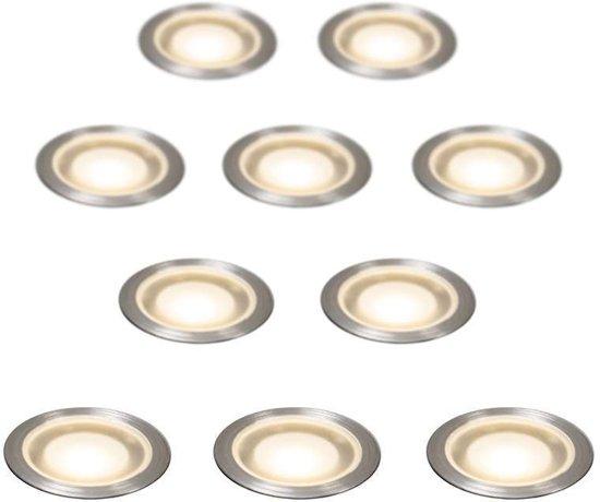 QAZQA Guard  Inbouwspots  LED  IP54  Set 10 Spots  Lichtkleur