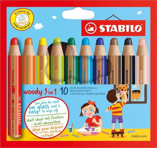 STABILO Woody 3 in 1 - 10 Stuks