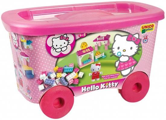 Hello Kitty Kar met Bouwstenen in Kantens