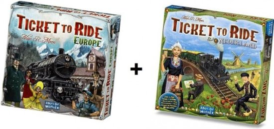 Ticket to Ride Europe + uitbreiding Ticket to Ride Nederland - Bordspel - Combi Deal in Burdaard / Birdaard