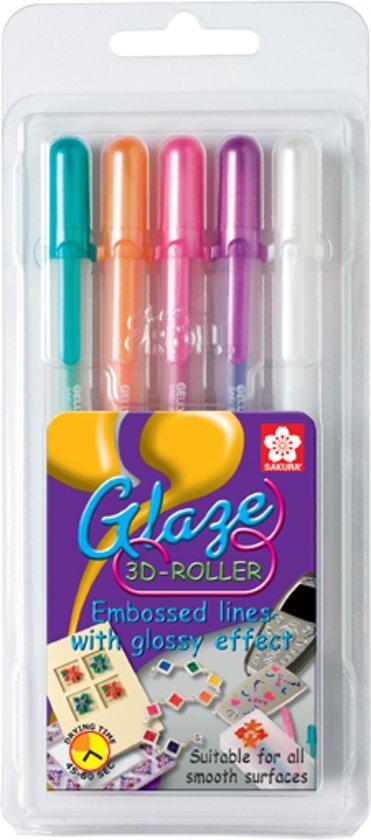 SAKURA Gelly Roll Glaze   Gelpennen met 3D-effect (5 kleuren) in Den Dool