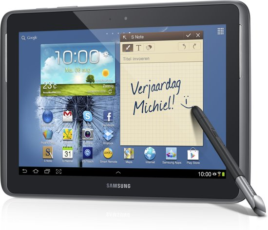 Samsung Galaxy Note - 10.1 (N8000) - met 3G - 16GB - Grijs - Tablet