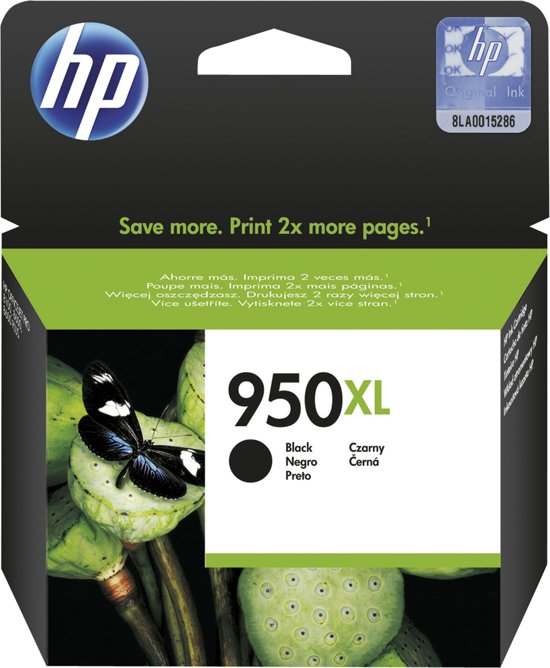 HP 950XL - Inktcartridge / Zwart / Hoge Capaciteit (CN045AE)