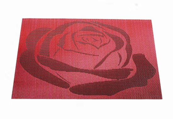 Rode Keukenapparaten : bol.com 6 placemats rode roos Koken en tafelen