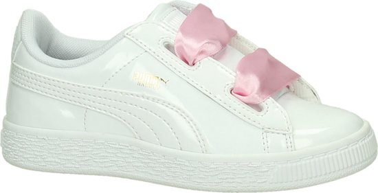 Puma Basket Heart Wit