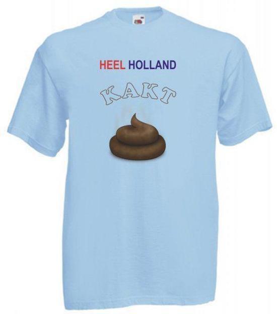 Mijncadeautje licht blauw T-shirt Heel Holland KAKT maat S in Het Heike