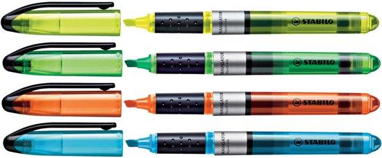 Stabilo Markeerstift Navigator etui van 4 stuks: geel blauw groen en oranje in Barbençon