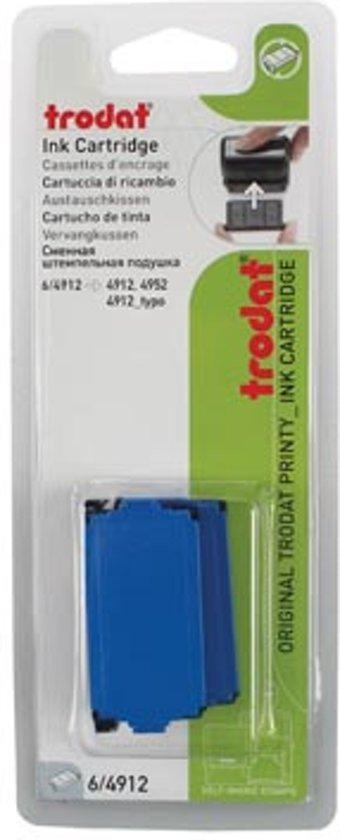 Trodat vervangkussen blauw voor stempel 4912 in Tusschen de Bruggen