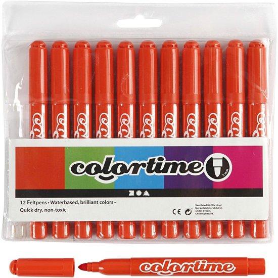 Colortime stift,  5 mm lijn, donkeroranje, 12 stuks in Slijk-Ewijk