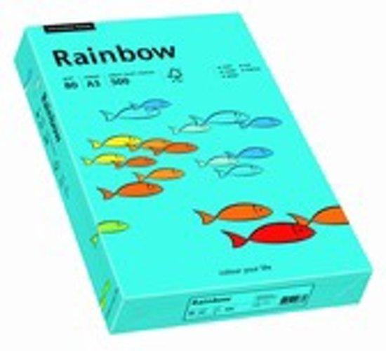 Rainbow gekleurd papier A4 80 gram 87 blauw 500 vel