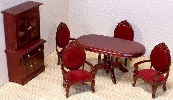 Victoriaans poppenhuis eetkamer meubels for Meubels poppenhuis