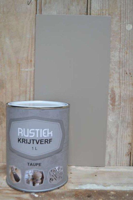 Rustiek krijtverf 1 liter kleur taupe klussen - Kleur licht taupe verf ...
