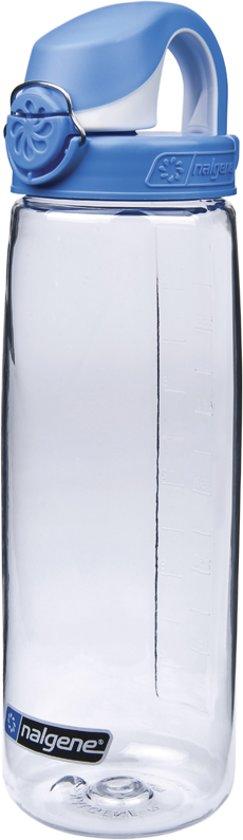 Nalgene OTF - Drinkfles - 650 ml - Transparant/Blauw in Mortier